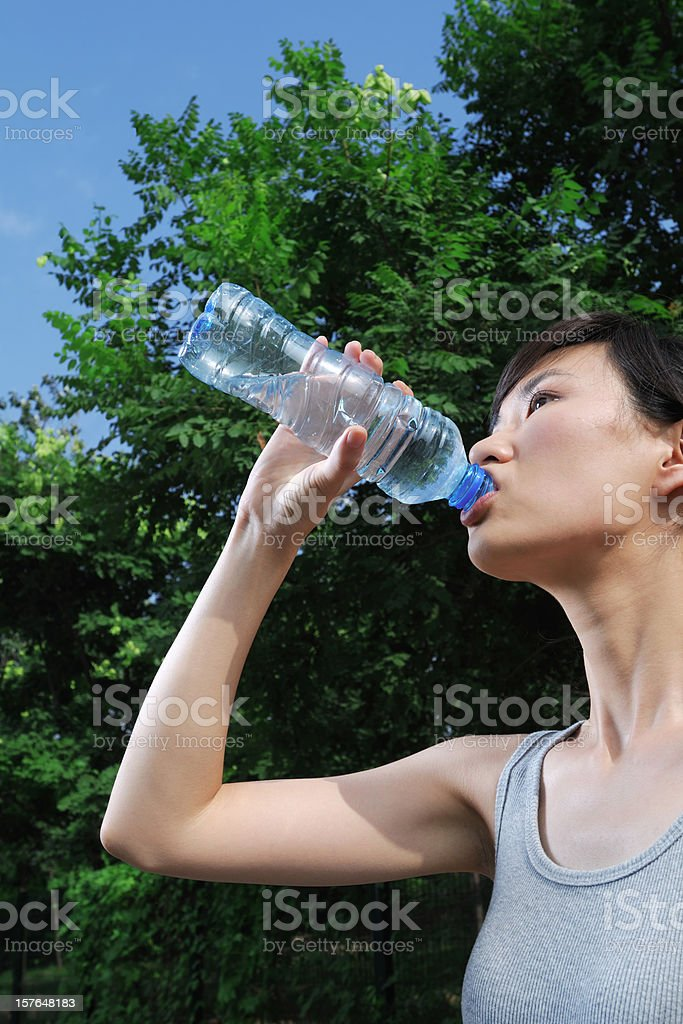 Drinking Water - XLarge royalty-free stock photo