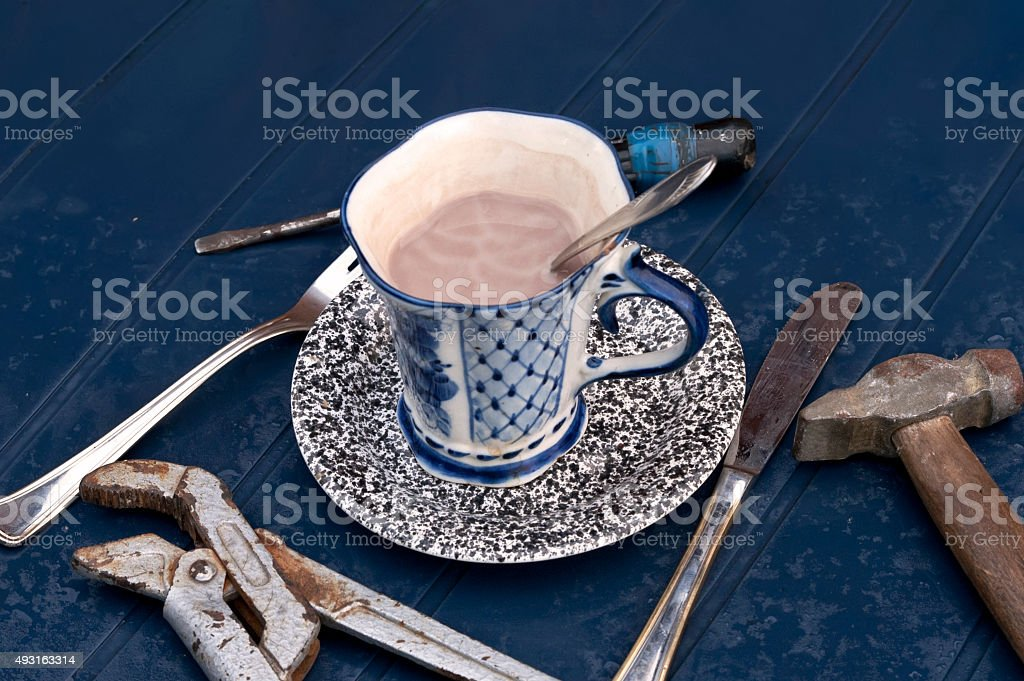 Drinks And Tools stock photo