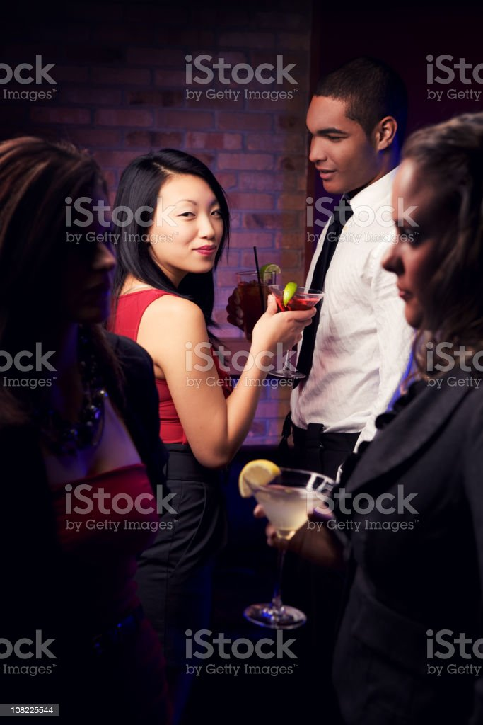 Drinks At The Bar royalty-free stock photo