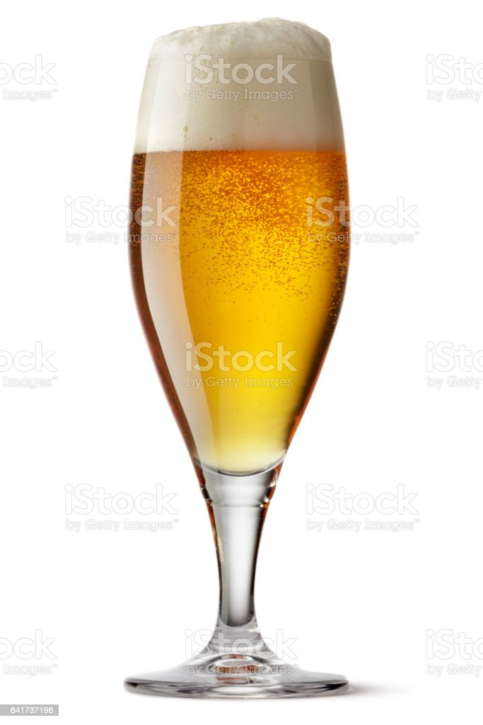 Drinks: Beer Isolated on White Background stock photo