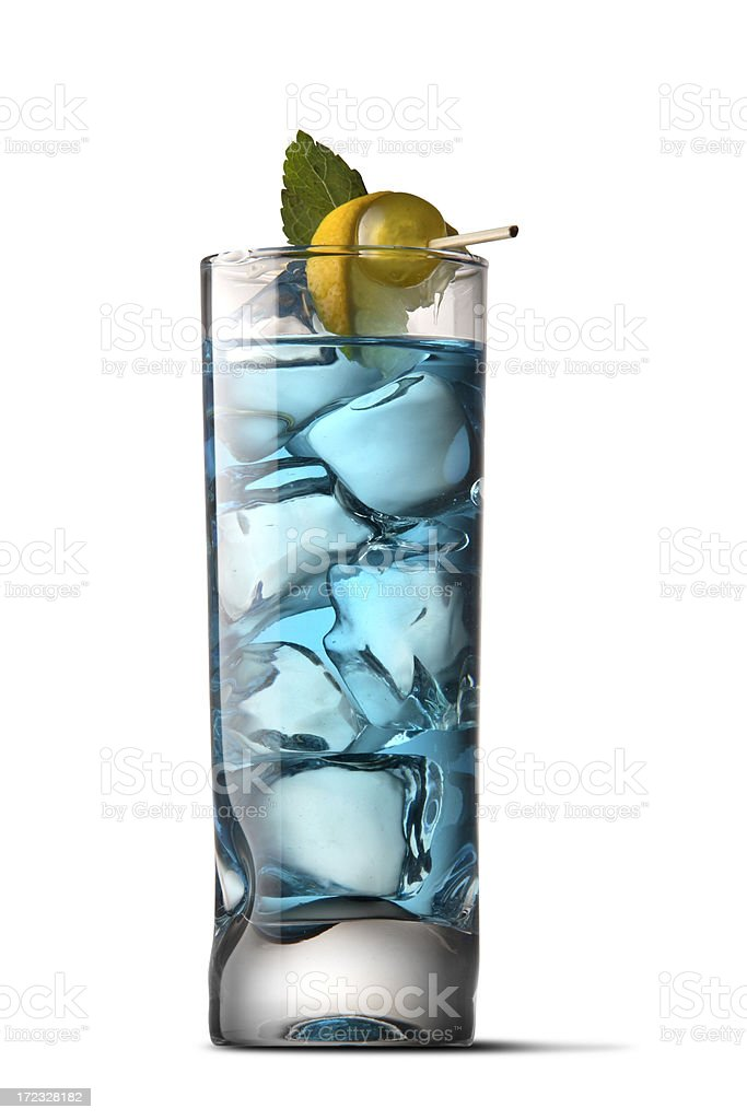 Drinks: Blue Cocktail stock photo