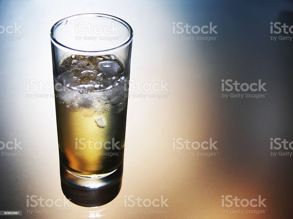 drinks: chilled tequila reposado royalty-free stock photo