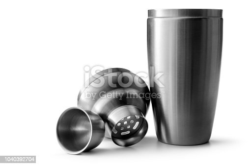 Drinks: Cocktail Shaker Isolated on White Background