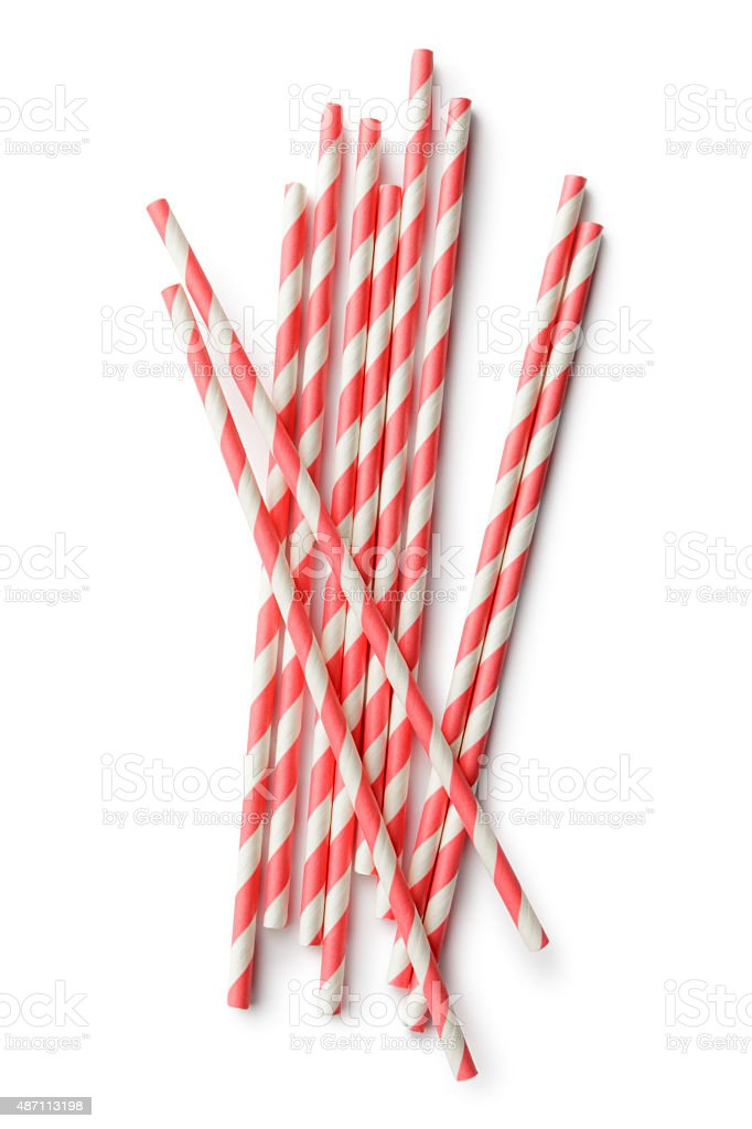 Drinks: Drinking Straws stock photo