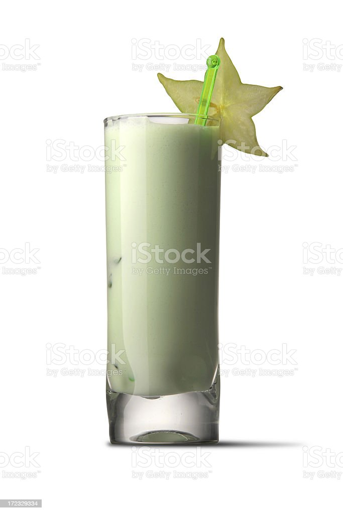 Drinks: Green Cocktail royalty-free stock photo