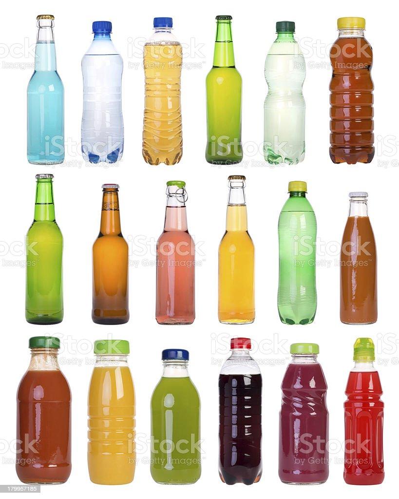 Drinks in bottles stock photo
