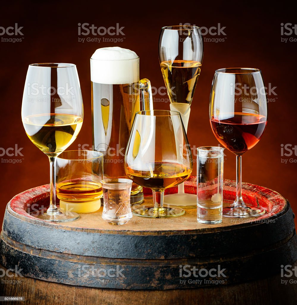 drinks in glasses stock photo