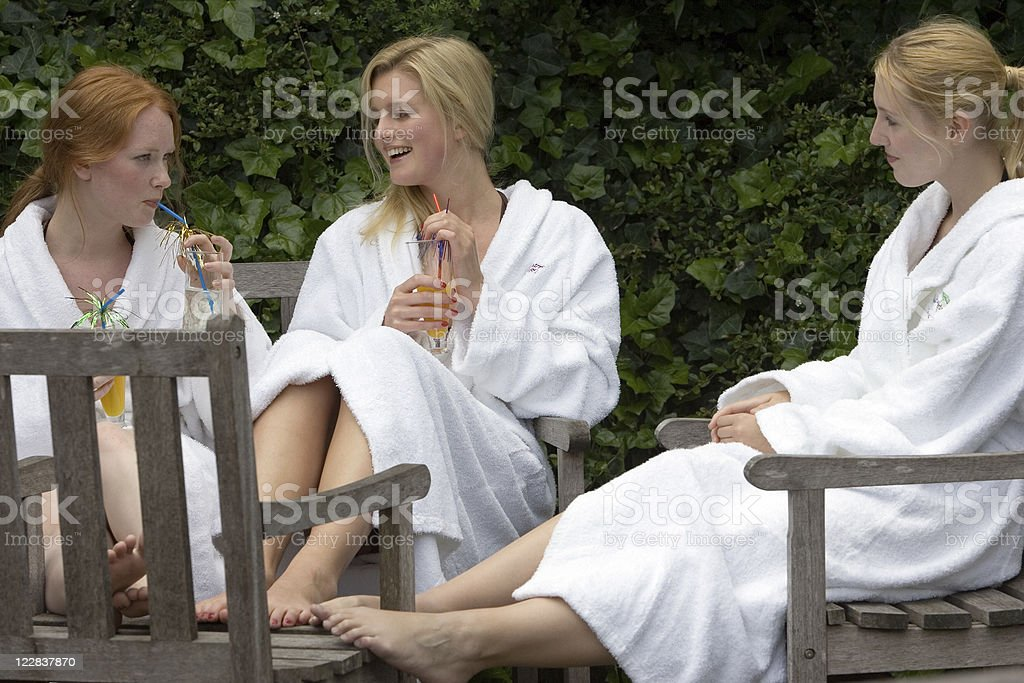 drinks in the garden royalty-free stock photo