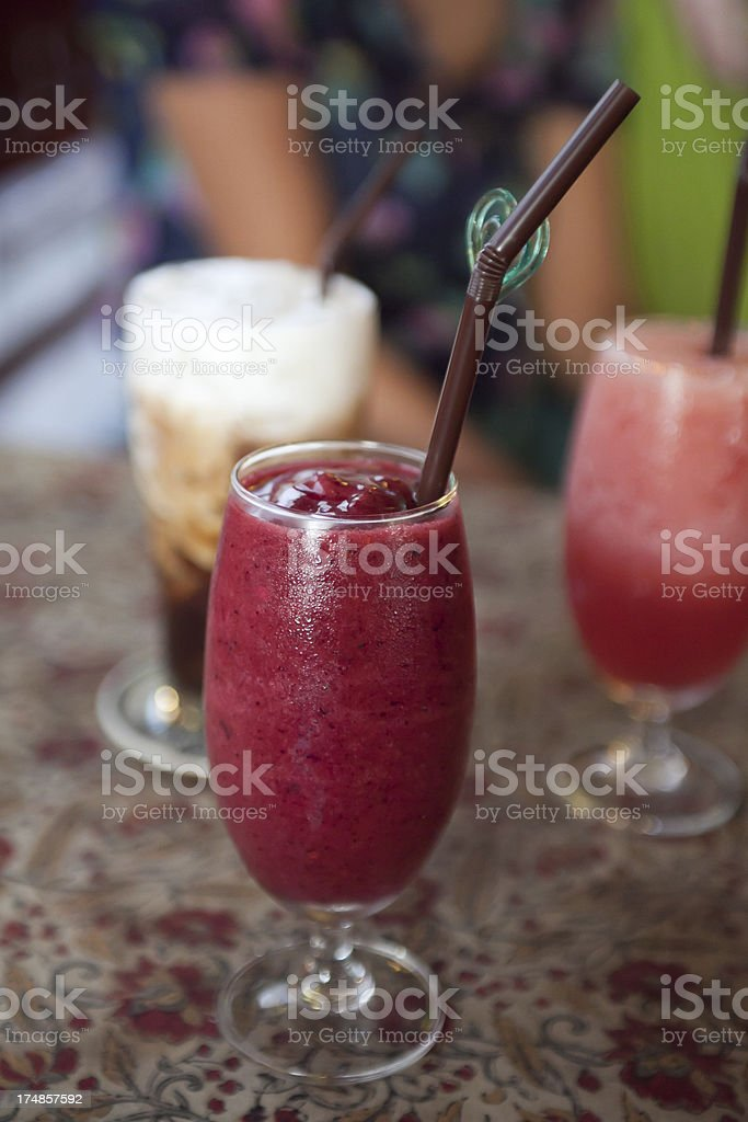 Drinks on a Table royalty-free stock photo