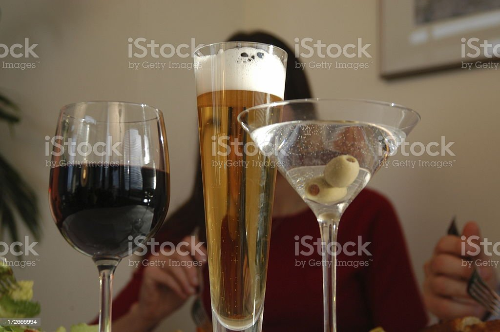 Drinks out on the town stock photo