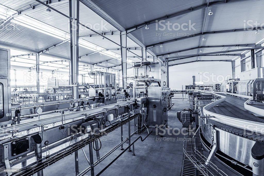 drinks production plant in China stock photo
