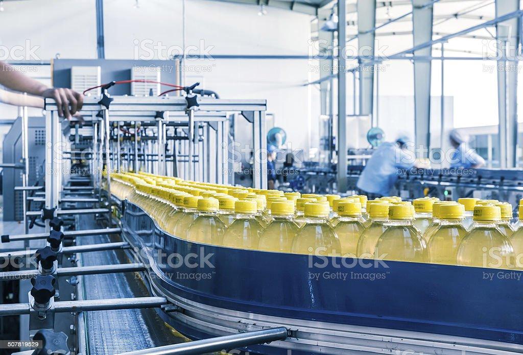 Bebidas e produção central na China - foto de acervo