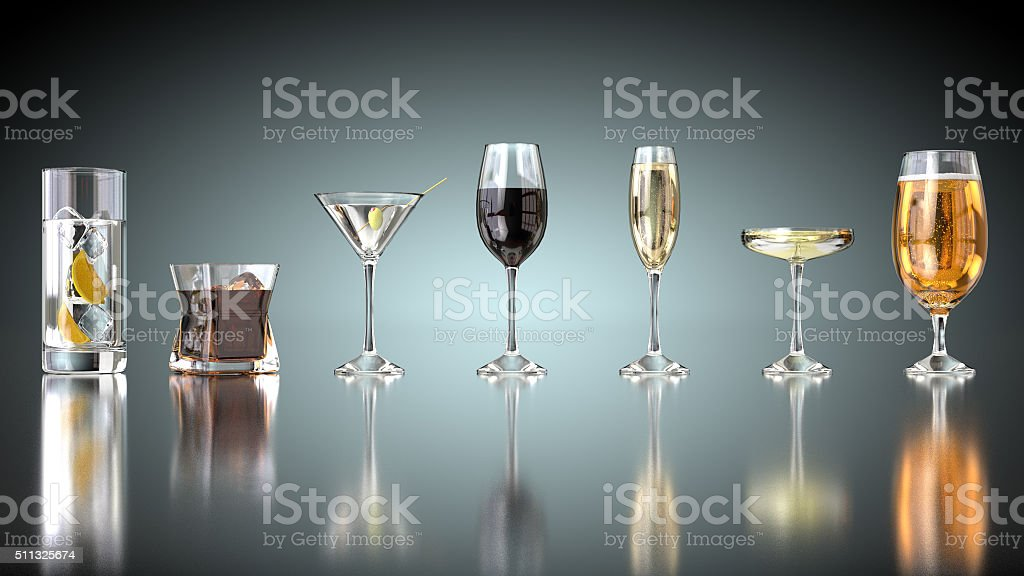 Drinks selection stock photo