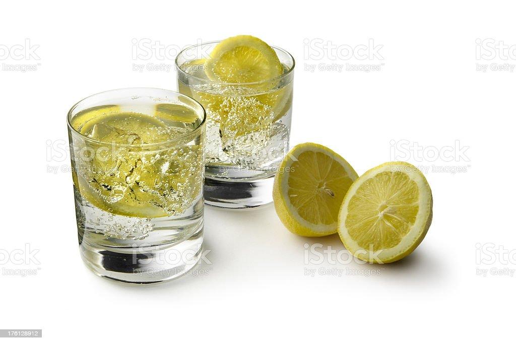 Drinks: Soda and Lemon royalty-free stock photo