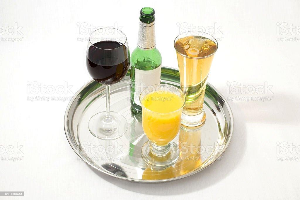 drinks tray royalty-free stock photo