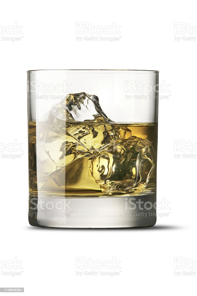 Drinks: Whiskey Isolated on White Background royalty-free stock photo