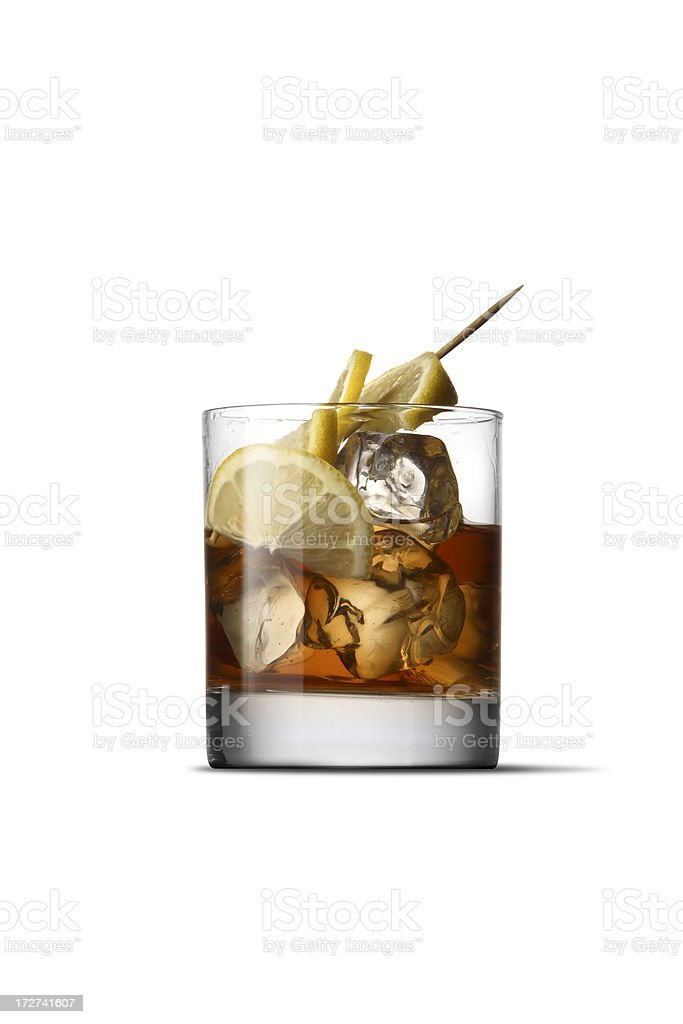 Drinks: Whisky Sour royalty-free stock photo