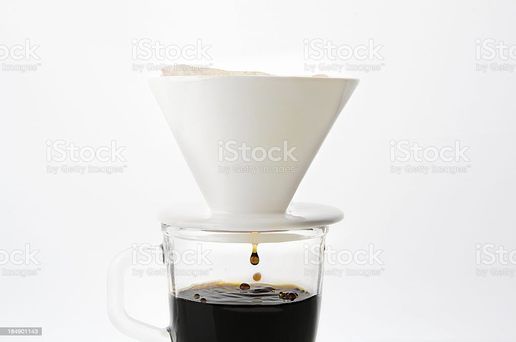 Drip coffee cup stock photo