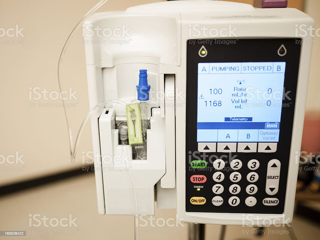 IV Drip Intravenous Infusion Pump stock photo