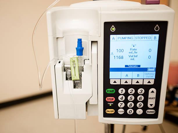 IV Drip Intravenous Infusion Pump stock photo