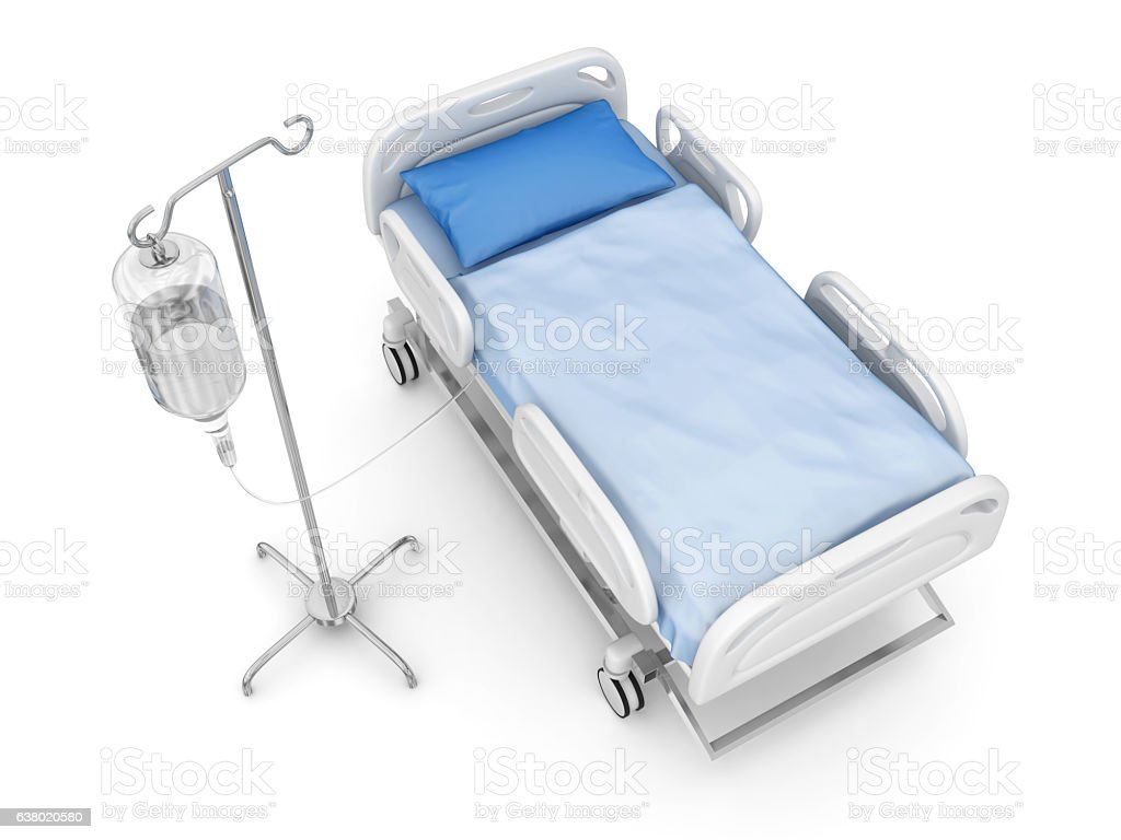 IV drip with hospital bed – Foto