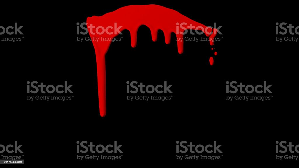 Dripping Blood Isolated Element stock photo