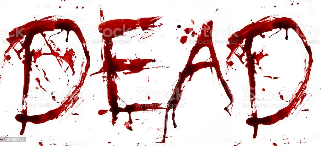 Dripping Blood Letters Dead Stock Photo More Pictures Of