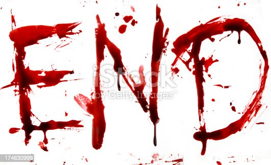 Dripping Blood Letters End Stock Photo More Pictures Of
