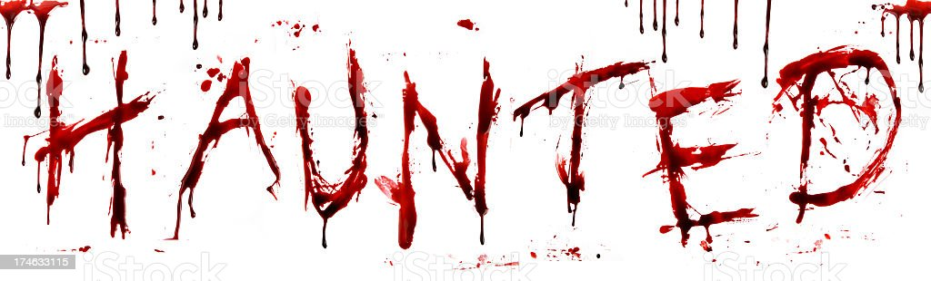 Dripping Blood Letters Haunted Stock Photo More Pictures