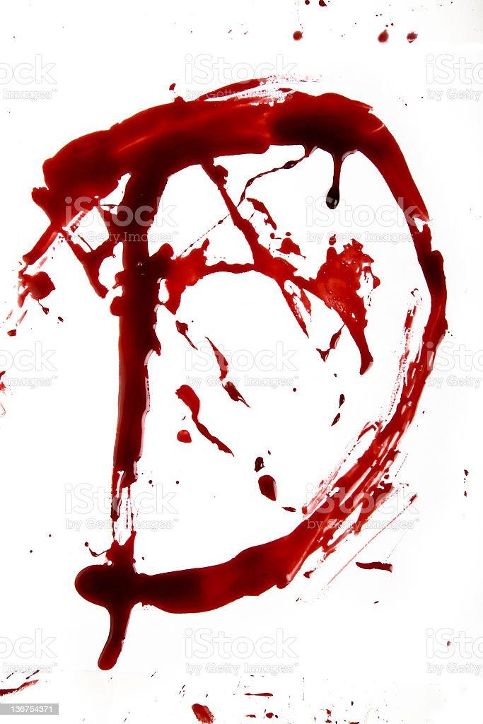 Dripping Bloody Alphabet D stock photo
