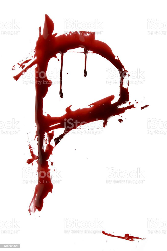 Dripping Bloody Alphabet P royalty-free stock photo