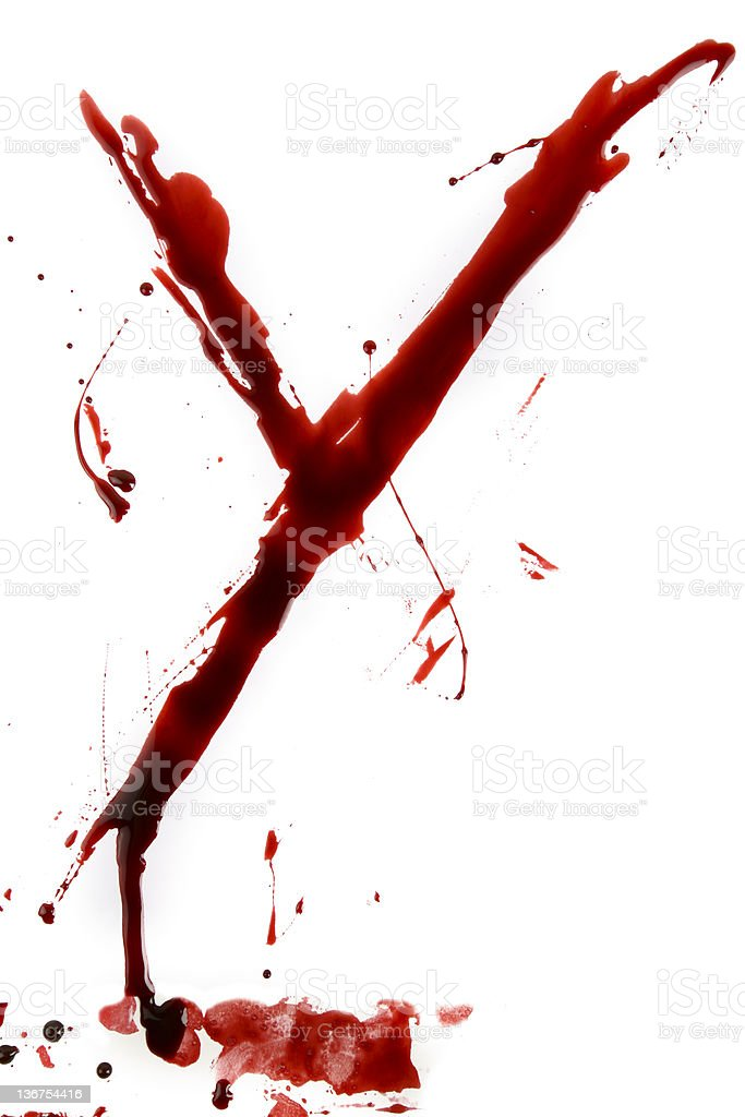 Dripping Bloody Alphabet Y royalty-free stock photo