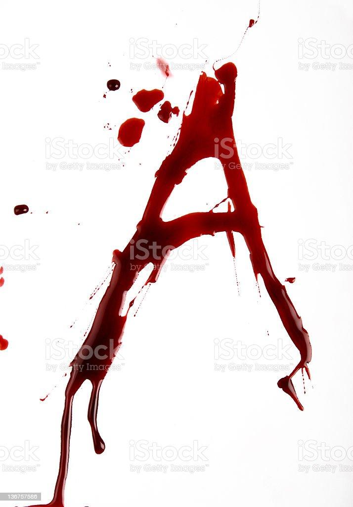 Dripping Bloody Font Alphabet: A stok fotoğrafı