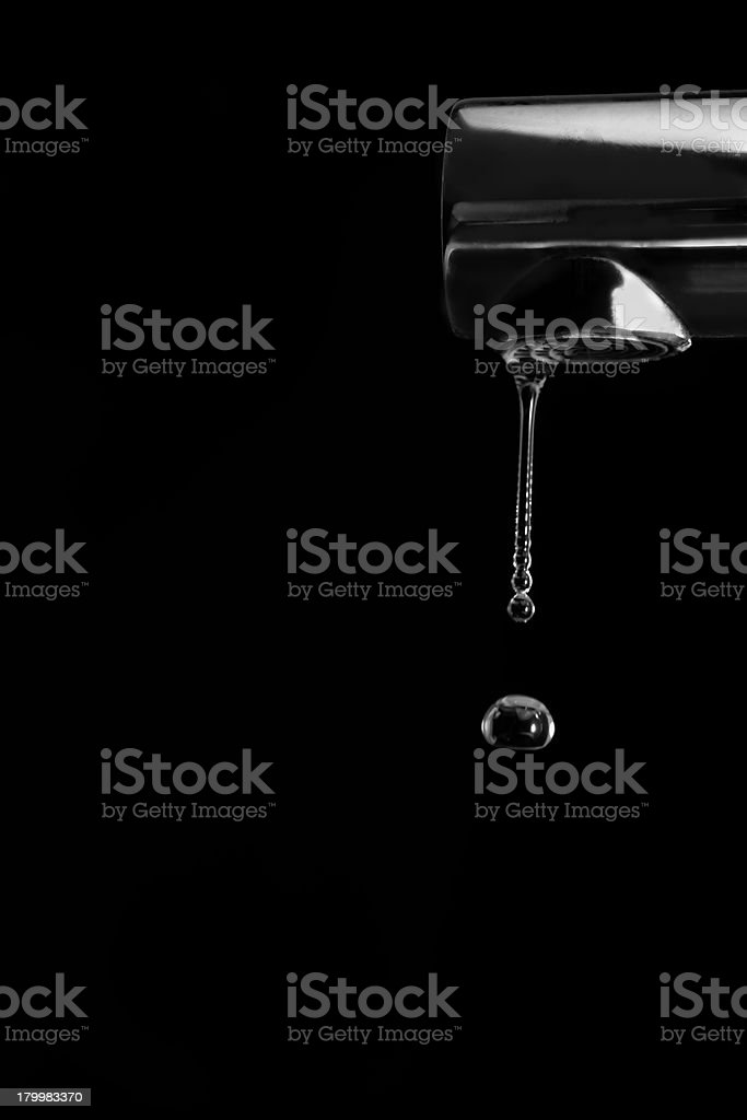 Dripping kitchen faucet. royalty-free stock photo