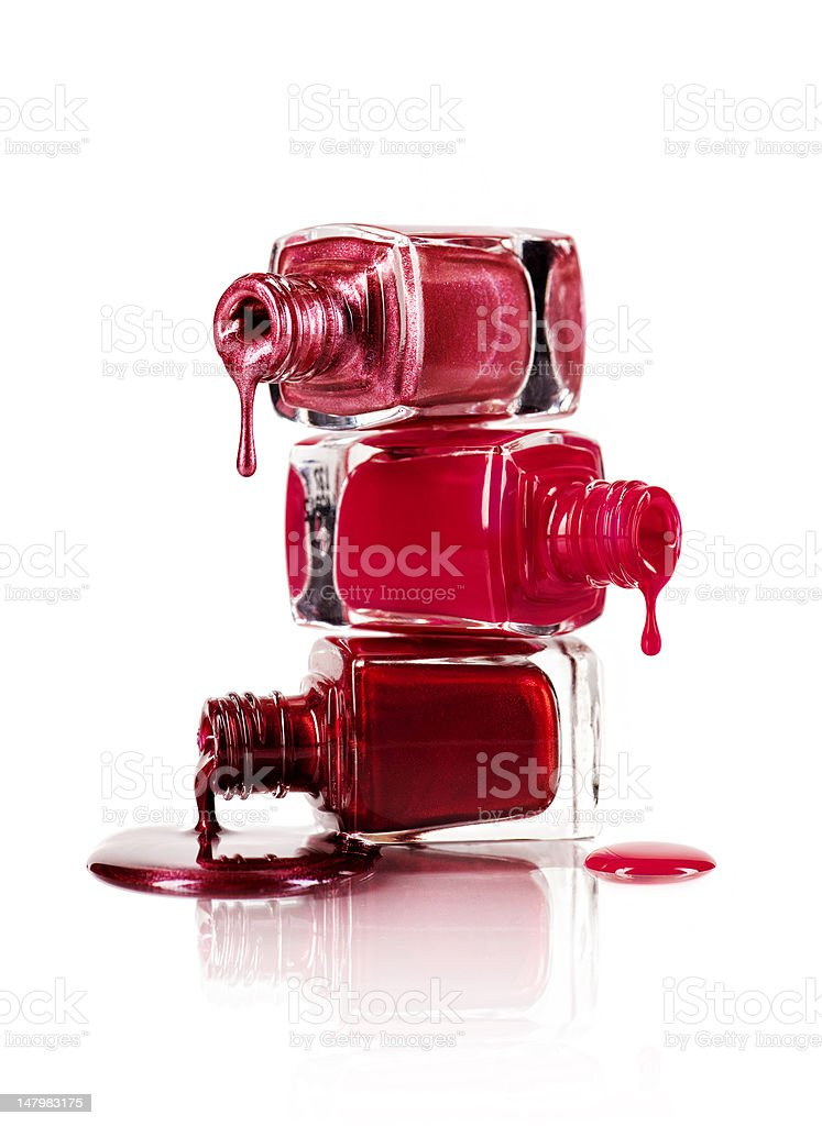 Dripping nail polish stock photo