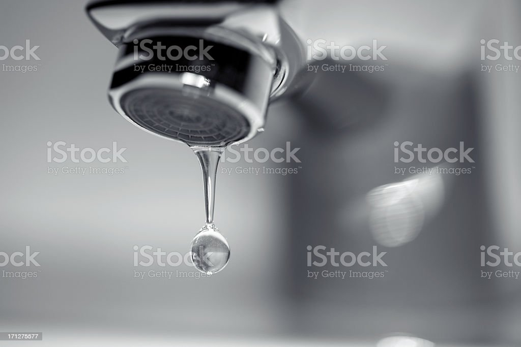 Dripping Water Faucet stock photo