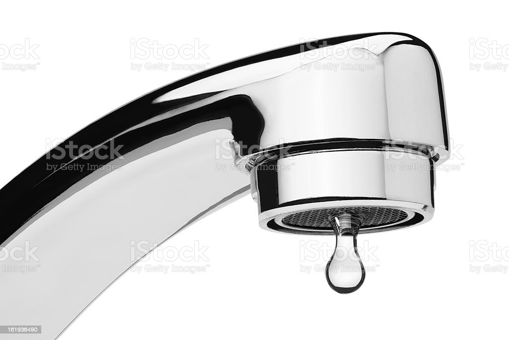 Dripping water tap stock photo