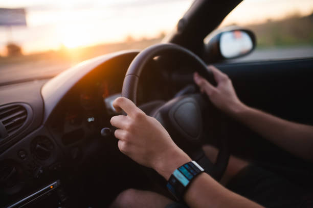 drive a car - impaired driving stock photos and pictures