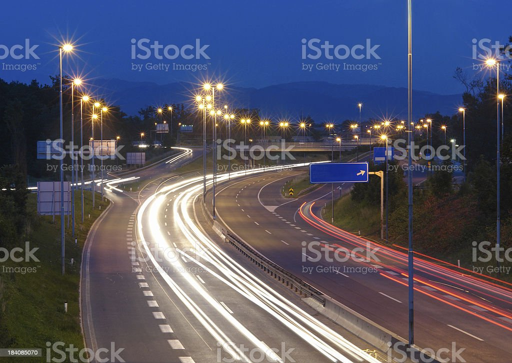 Drive all night royalty-free stock photo