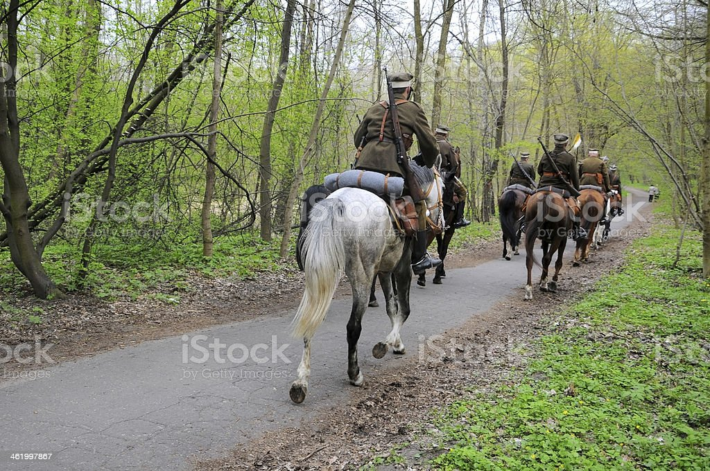 Drive Cavalry Regiment in Poznan stock photo