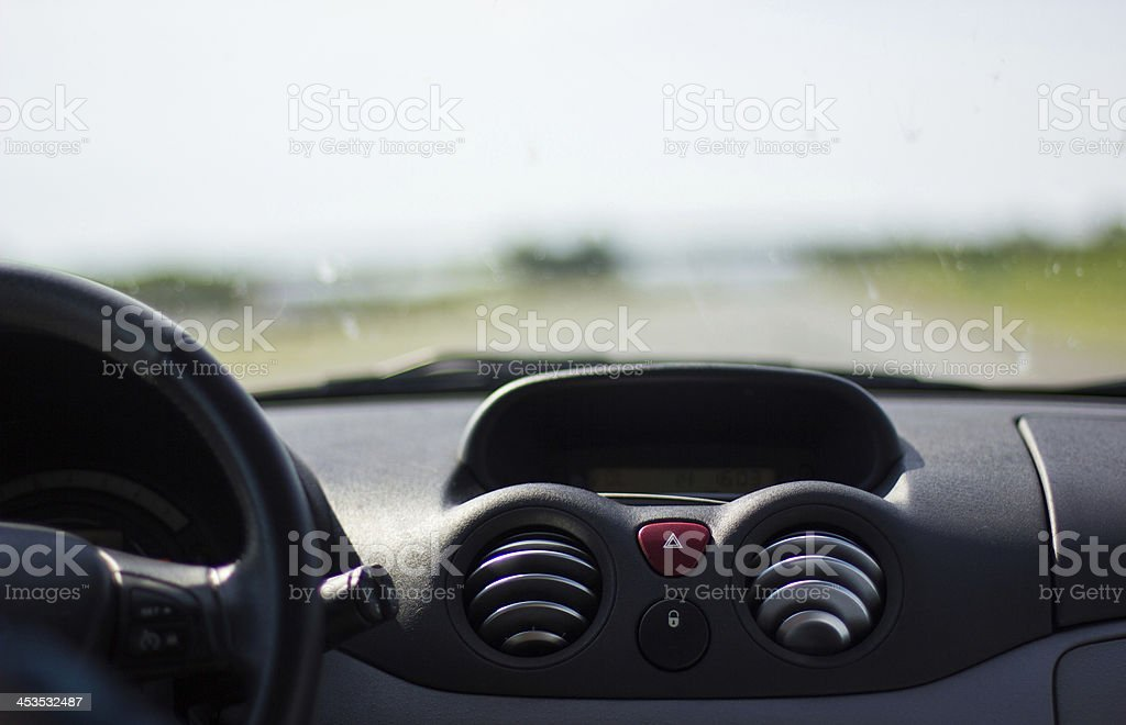 Drive from car view stock photo