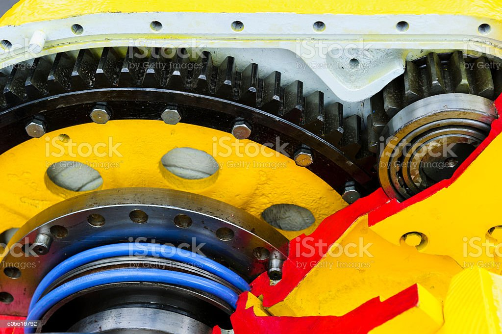 Drive gear and bearings stock photo