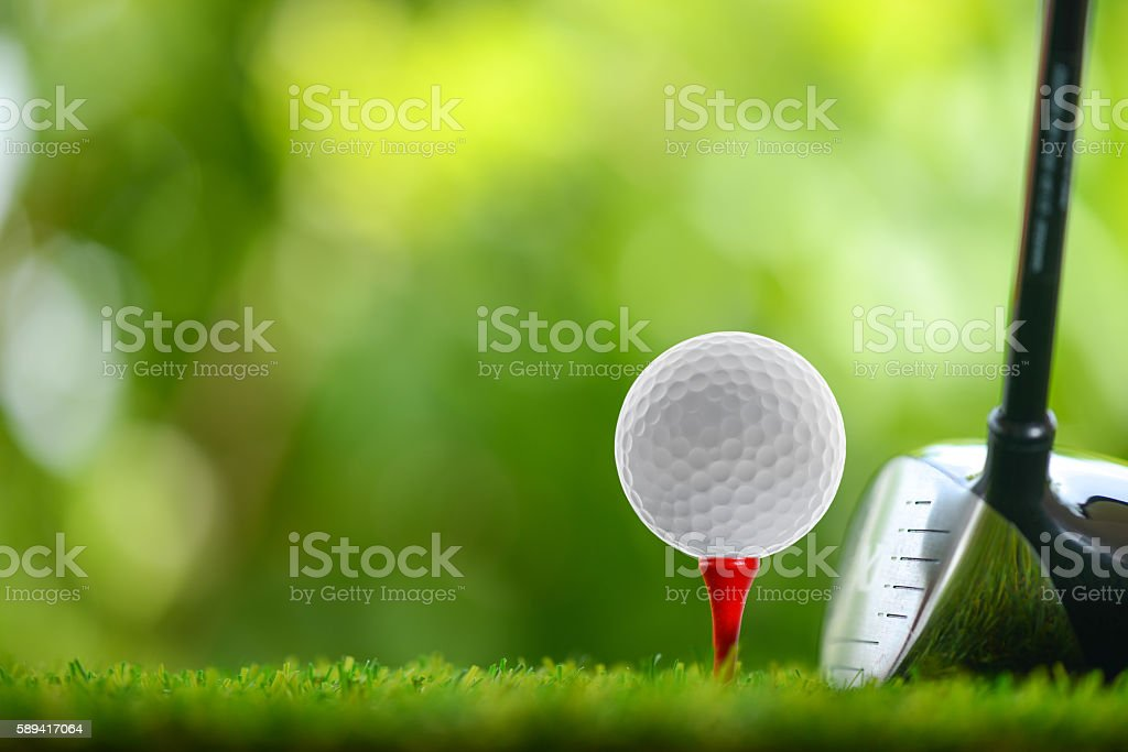 drive golf stock photo