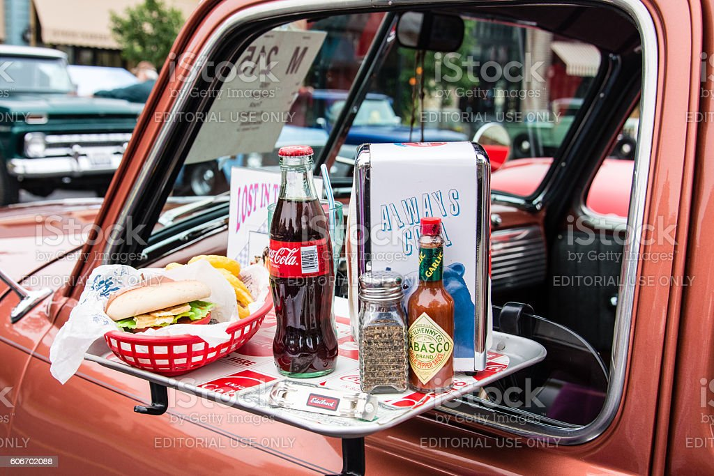 Drive In Food stock photo