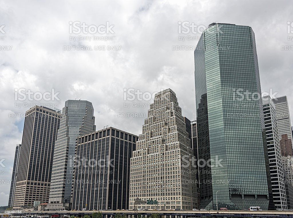 FDR Drive in Lower Manhattan royalty-free stock photo