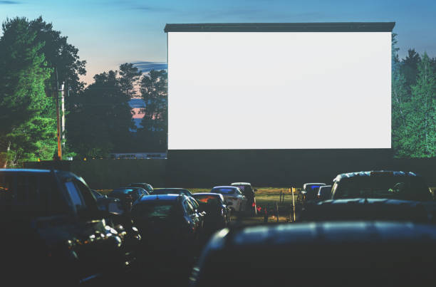 Drive In Movie stock photo