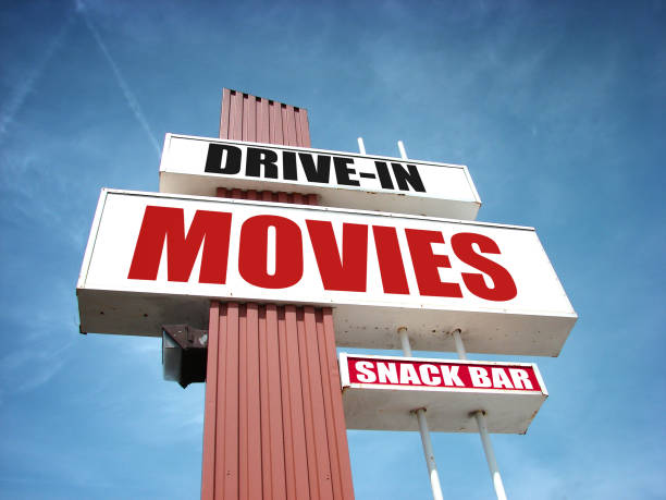 drive in movies stock photo