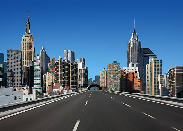drive in new york city - straight stock photos and pictures