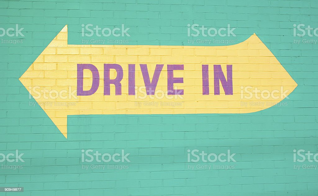 Drive In stock photo