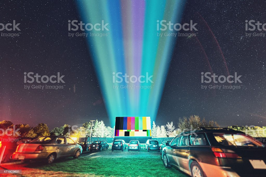 Drive In Test Pattern stock photo